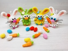 Crochet Pattern Bunny Rabbit - Baby-Bunny around the egg - English