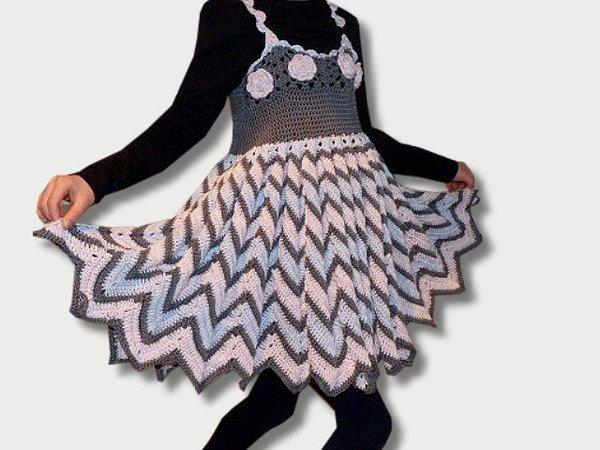 Häkelanleitung - Kleid Zick-Zack-Kleid - alle Kindergrößen
