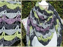 Crochet Pattern for  a triangle shawl | 3-Eckstuch *FAIRBURY*