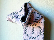 "Doubleknit scarf knitting pattern ""Turnery"""
