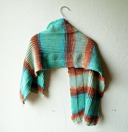Brioche shawl knitting pattern, rectangle stole in tuck stitch ...