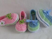 Ballerina/ Lace-up shoe crochet pattern