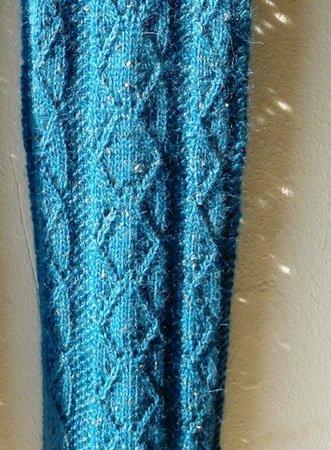 Knitting Pattern For Lace Scarf In Bulky Alpaca Yarn Somewhat Blue