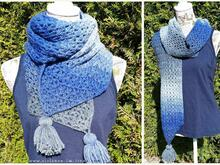 Crochet Pattern for a scarf with tassles | *Boston*