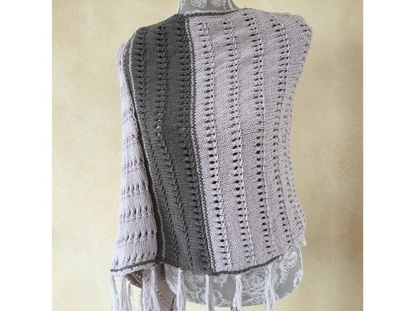 "Strick-Anleitung Poncho / Cape ""Kathrin"""