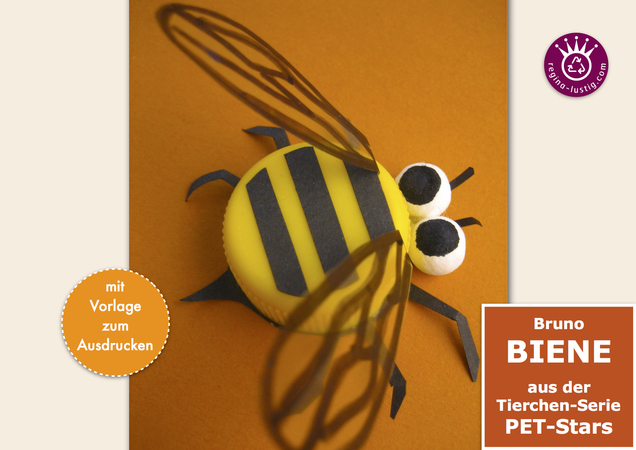 Bruno Biene lustiges PET-Pet, Upcycling