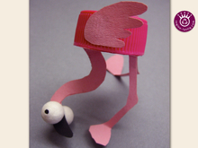 Franko Flamingo lustiges PET-Pet, Upcycling