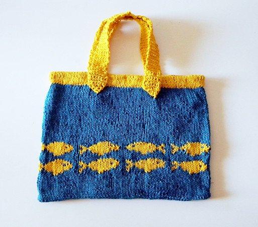 Handbag Knitting Pattern Goldfish Swimming To Australia