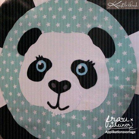 Applikationsvorlage Fuchs Elefant Bär Panda Tiger Und Löwe