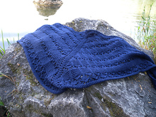 Lace and textured shawl knitting pattern