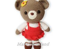 Carm Girl Bear the Ami - Amigurumi crochet pattern - Digital Download