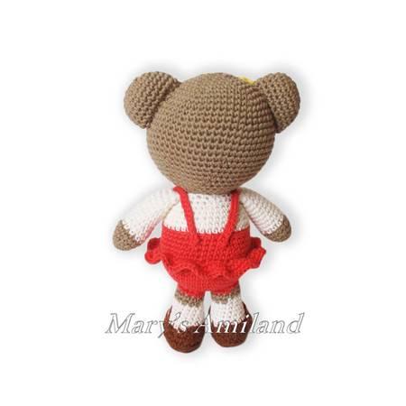Ravelry: Cute teddy bear girl pattern by Elizabeth Kina | 450x450