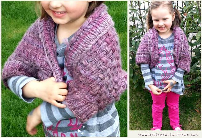 Knitting Pattern For Shrug Soulwarmers For Girls In All Sizes
