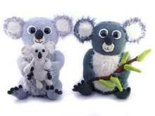 Fluffy koala bear family - crochet pattern