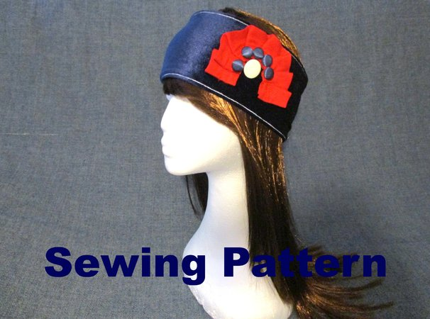 velvet headband earwarmer women sewing pattern
