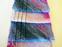 "Scarf with lace edge knitting pattern ""Poesia"""