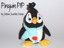 Crochet instruction E-Book Puppet #0012 Penguin Pip by Sabses Sweeties Design in english
