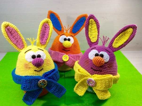 Crochet Pattern Bunny  Rabbit - Bunny Present Egg - English