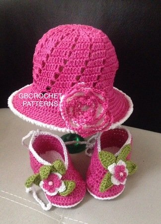 Baby shower shoes and hat set, Child baby shoes, child summer hats, Ashley hat and shoes