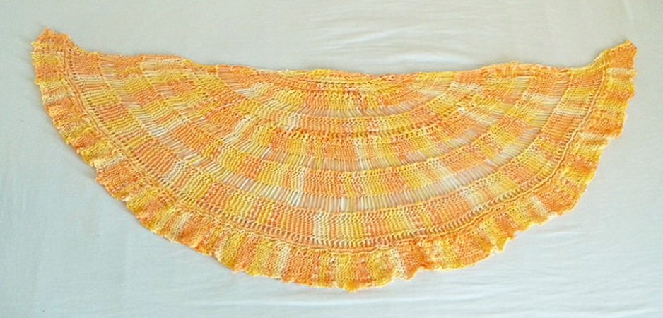 Half Circle Shaped Shawl Knitting Pattern Au Coucher Du Soleil