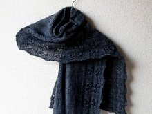 "Lace Shawl Knitting Pattern, rectangle stole ""Nite Flite"""
