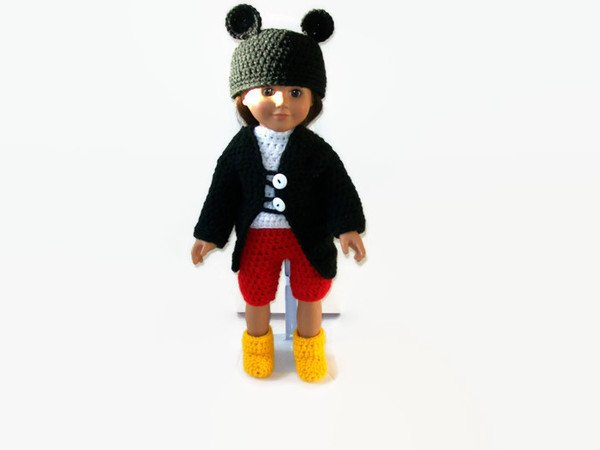 Tutorial Amigurumi Mickey Mouse : Mouse crochet doll clothes pattern
