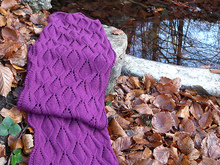 "Rectangle Lace Shawl Knitting Pattern ""Forest Brook Stole"""