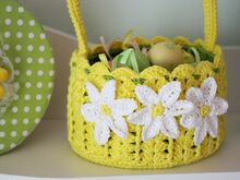 Spring Basket Crochet Pattern