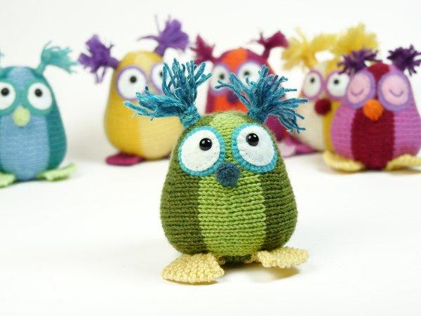Mini Owls The Stash Gobblers 03 Knitting Pattern