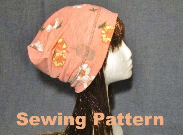 Women Men Summer Slouchy Beanie Hat Sewing Pattern Awesome Chemo Cap Sewing Pattern