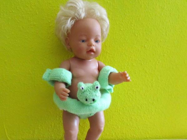 Strickanleitung- Schwimmring und Schwimmflügel für Babypuppen