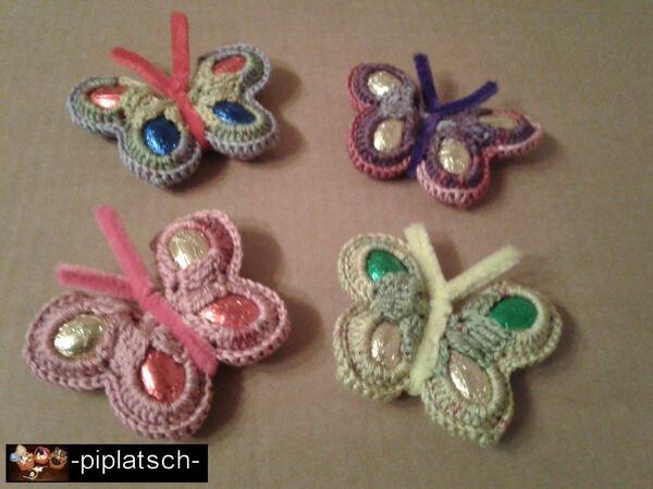 Schmetterling häkeln und basteln // Schoko