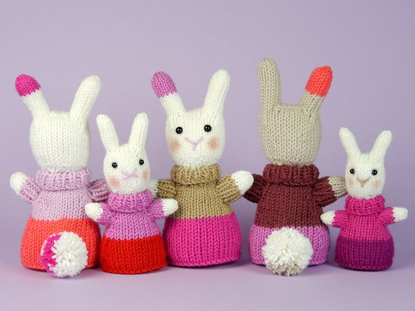 "Mini Bunny ""The Stash Gobblers #04"" knitting pattern"