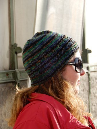 "Hat knitting pattern ""Emmentaler Hat"" with decorative little holes"