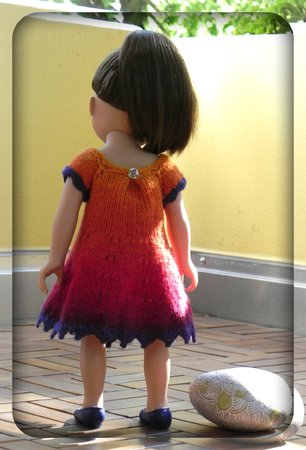 "eBook PDF Strickanleitung Puppenkleid ""Sunset"""