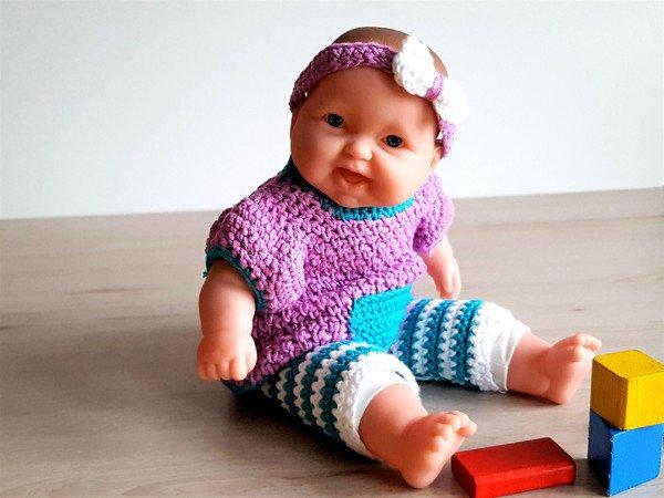 Häkelanleitung Für Leggins Und Kleidchen Für 30 35 Cm Puppen