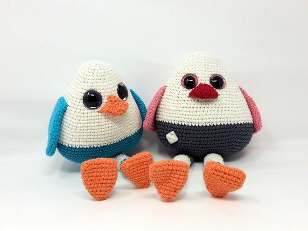Häkelanleitung Vogel Pingu - KLEIN
