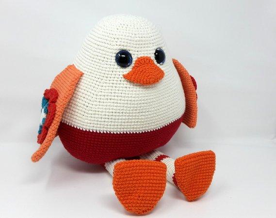 Häkelanleitung Vogel Pingu GROSS