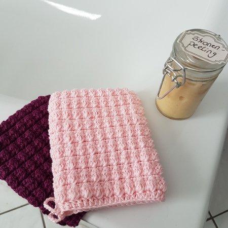 Wasch Handschuh Häkeln Waschlappen Häkeln