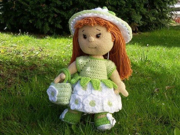 Puppe Häkeln Greta Gänseblümchen