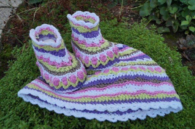 Blumenkind Anleitung Zum Häkeln Für Baby Mütze Und Schuhe