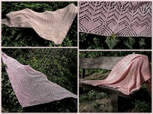 Knitting pattern shawl, wrap Seray