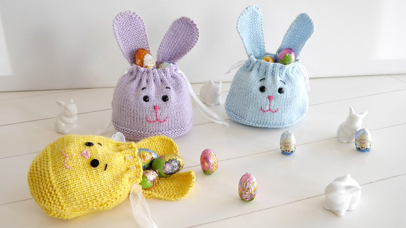 Knitting Pattern - little Bunny Bag - not only for Easter - No.159E