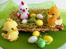 Easter Chicklet and Ducklings Crochet Pattern