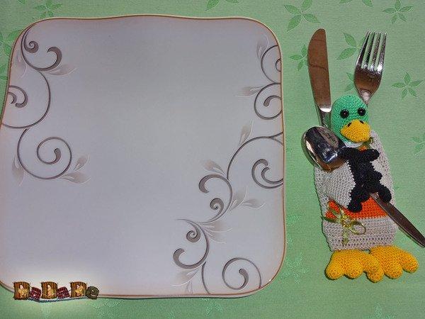 Bestecktasche Wild Ente Nicht Nur Zu Ostern Gehäkelt Von Dadade