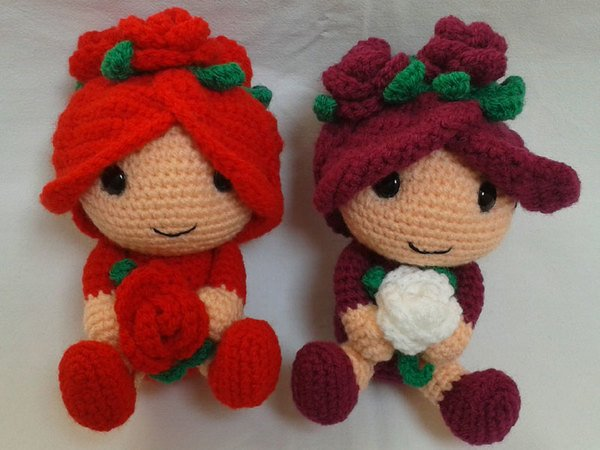 Crochet Pattern Flower Child Ruby Rose
