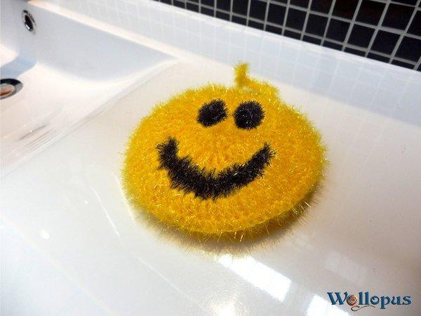 Smiley Als Spüli Häkeln