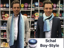 Schal Boy-Style aus 1 Woolly Hugs Bobbel-Cotton gestrickt