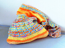 "Market bag knitting pattern ""Caribbean Dreams"", mosaic colorwork"