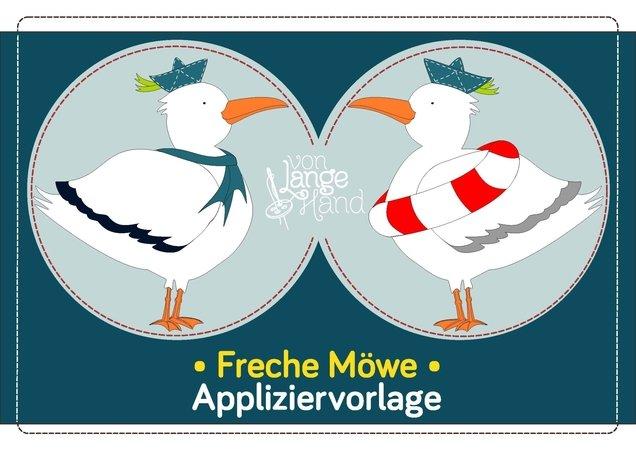 Appliziervorlage Freche Möwe E Book Mit Nähschule Applizieren